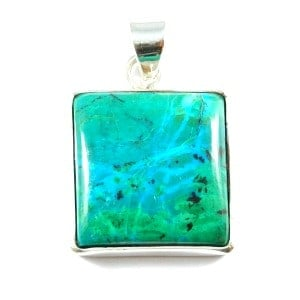 Chrysocolla pendant square mozeypictures Image collections