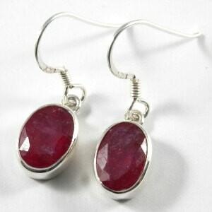 AA grade and sapphire rock crystal earrings