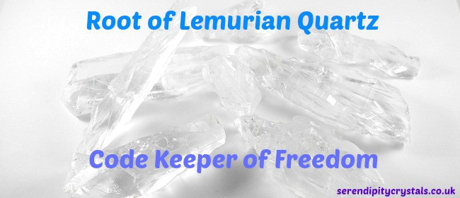 NEW ~ Root of Lemurian Quartz ~ Code Keeper of Freedom