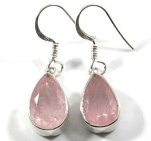 Morganite Faceted Earrings ~ Item A