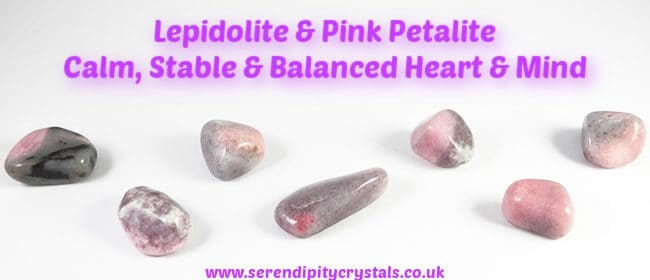 Lepidolite & Pink Petalite ~ Deep Mental & Emotional Balance/Stability/Recovery